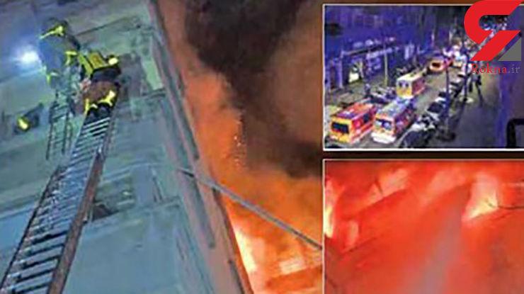 جزغاله شدن 8 نفر در آتش سوزی مرگبار ساختمان 8 طبقه / فاجعه ای که عمدی بود+ عکس