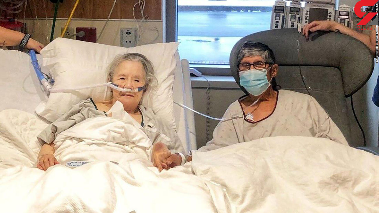 عروس و داماد کرونایی در بیمارستان ازدواج کردند + عکس