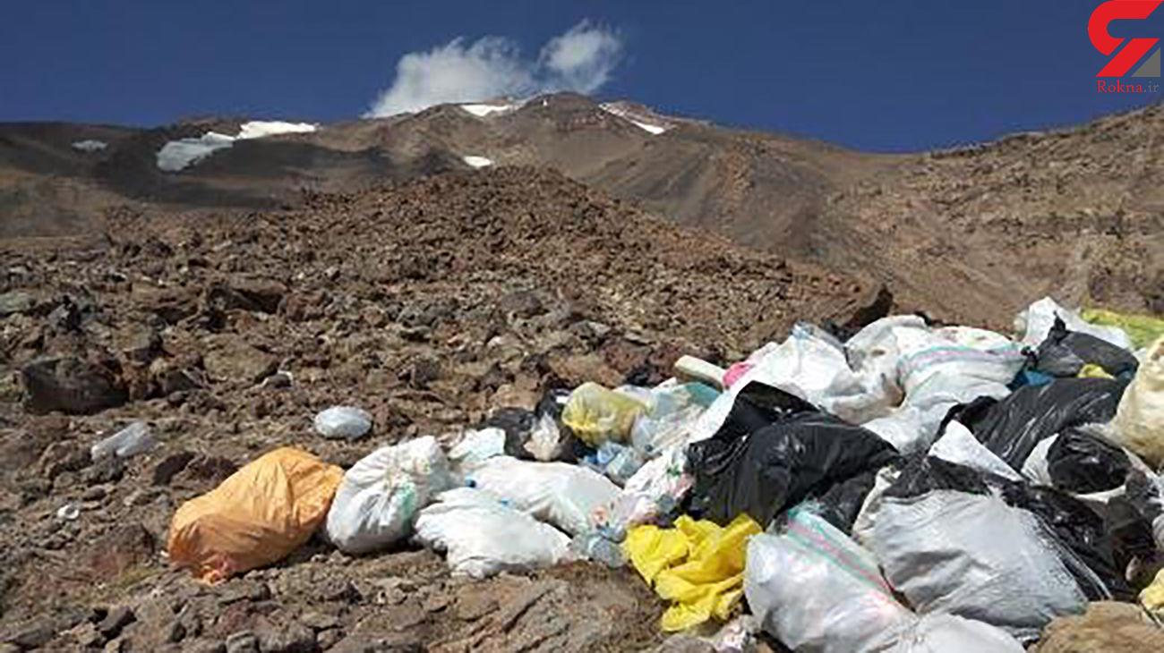 دپوی زباله در دل کوه دماوند