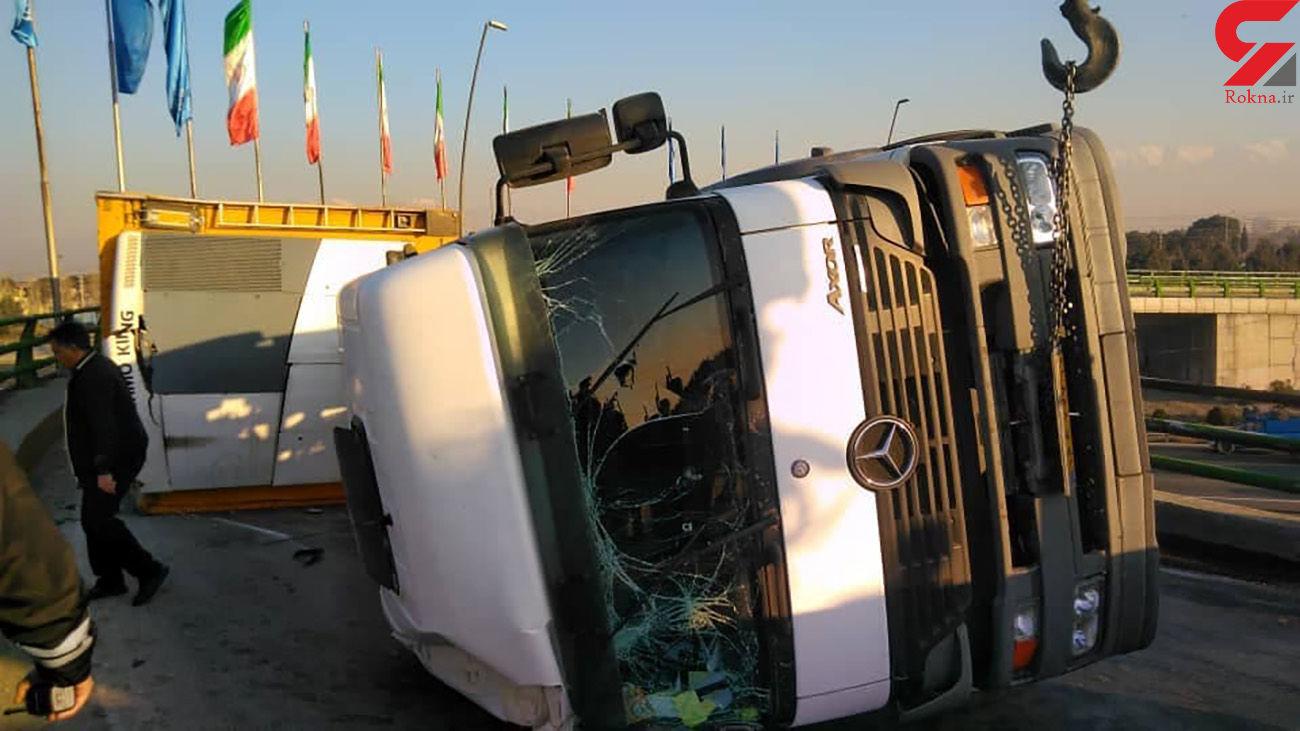 فیلم تصادف شدید در اتوبان تهران ساوه
