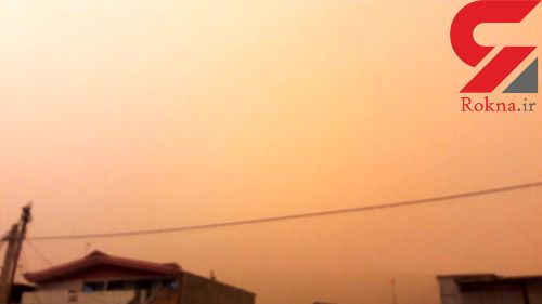 بارش باران خاک در پلدختر + تصاویر