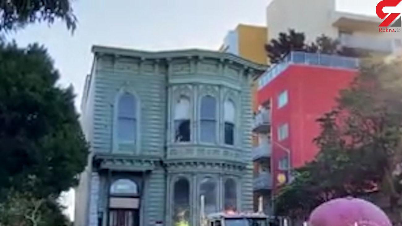 جابجایی حیرت انگیز  یک خانه بزرگ در آمریکا + فیلم