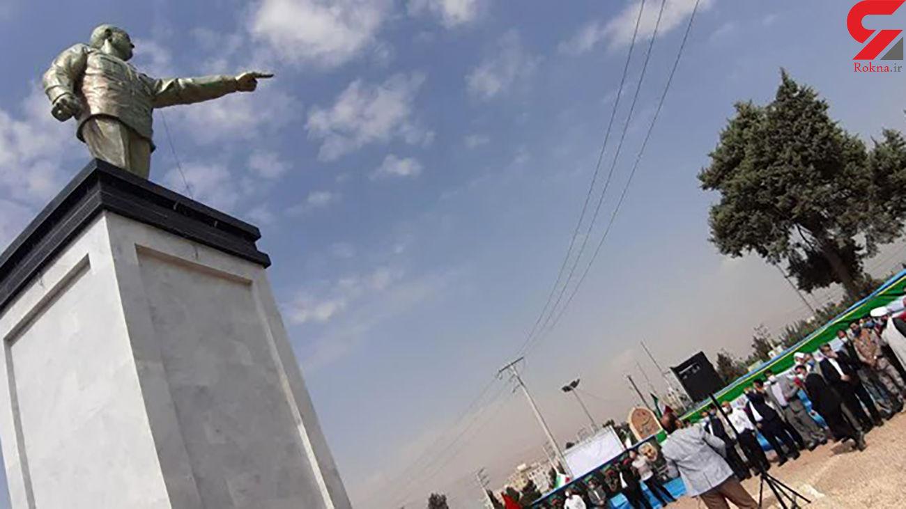 رونمایی از تندیس سردار سلیمانی در شهر قدس