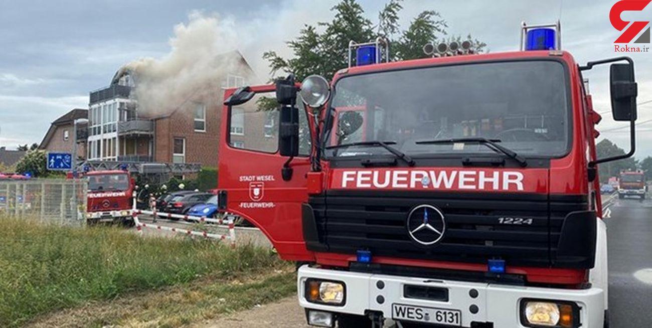 سقوط هواپیما با 2 کشته و چند زخمی + عکس محل حادثه / آلمان