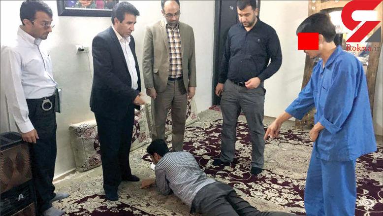 غش کردن قاتل بی حیا در صحنه قتل دوستش! + عکس