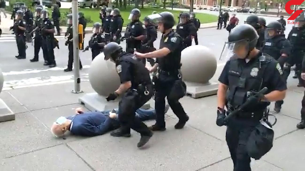 کشته شدن وحشتناک پیرمرد 75 ساله در اعتراضات آمریکا + فیلم