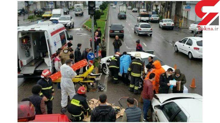 نجات جان 2 رشتی از تصادفی مرگبار + عکس