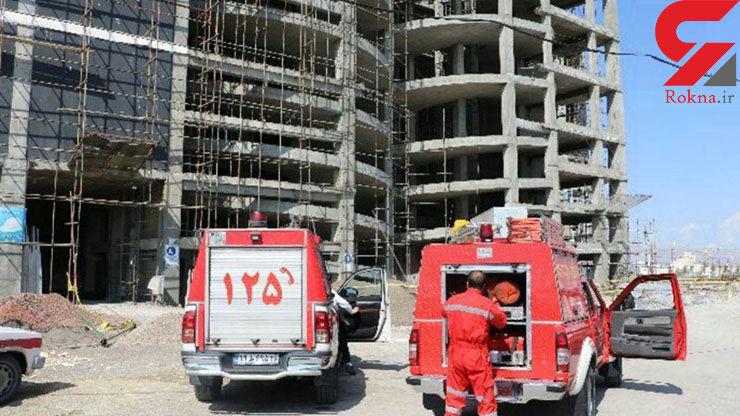 مرد مشهدی از این ساختمان سقوط کرد و زنده ماند / یک معجزه واقعی+ عکس