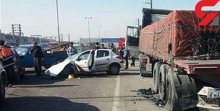 تصادف مرگبار تریلی و سواری 3 قربانی گرفت + عکس