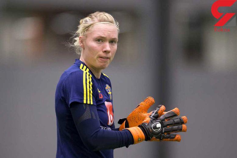 واکنش غم انگیز دروازهبان تیم ملی بانوان سوئد به مرگ دختر آبی+ عکس
