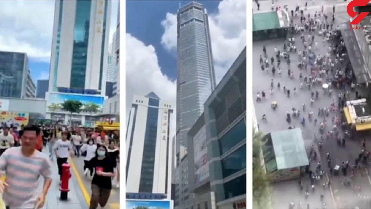 وحشت از لرزش ناگهانی برج 300 متری + فیلم