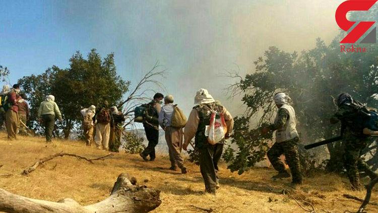 آتش سوزی در دشتگل اندیکا مهار شد