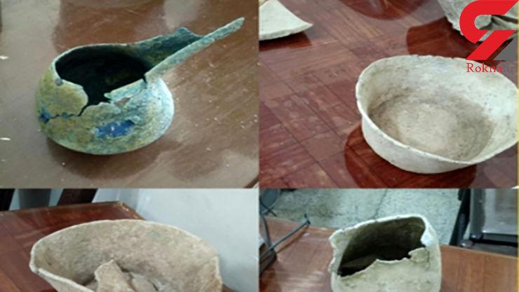 کشف اشیای تاریخی دوره هخامنشی در مرودشت + عکس