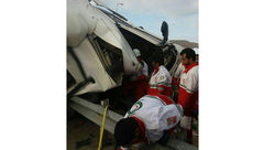 واژگونی مرگبار تریلی در جاده زاهدان به زابل+ عکس