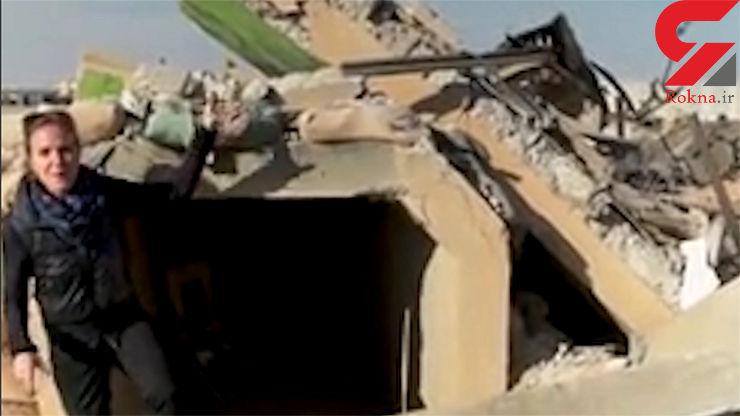 اولین فیلم از لحظه برخورد موشکهای ایران در پایگاه امریکا / عمق تخریب را ببینید !