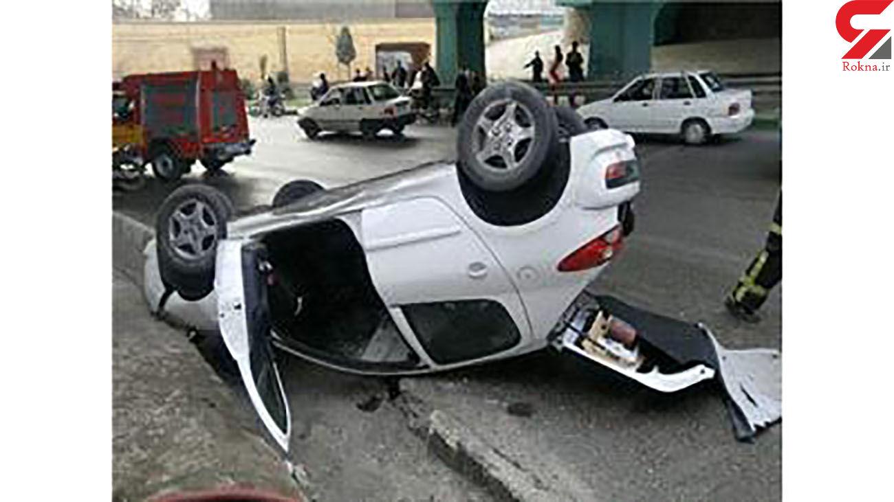 واژگونی مرگبار پژو 207 در کرج