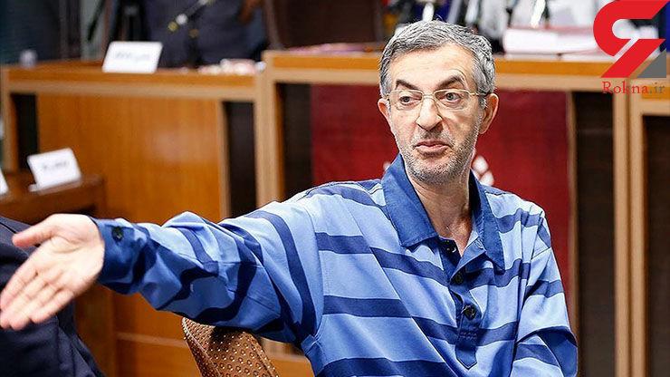 عکسی از مشایی در دادگاه که بسیار لاغر شده است!