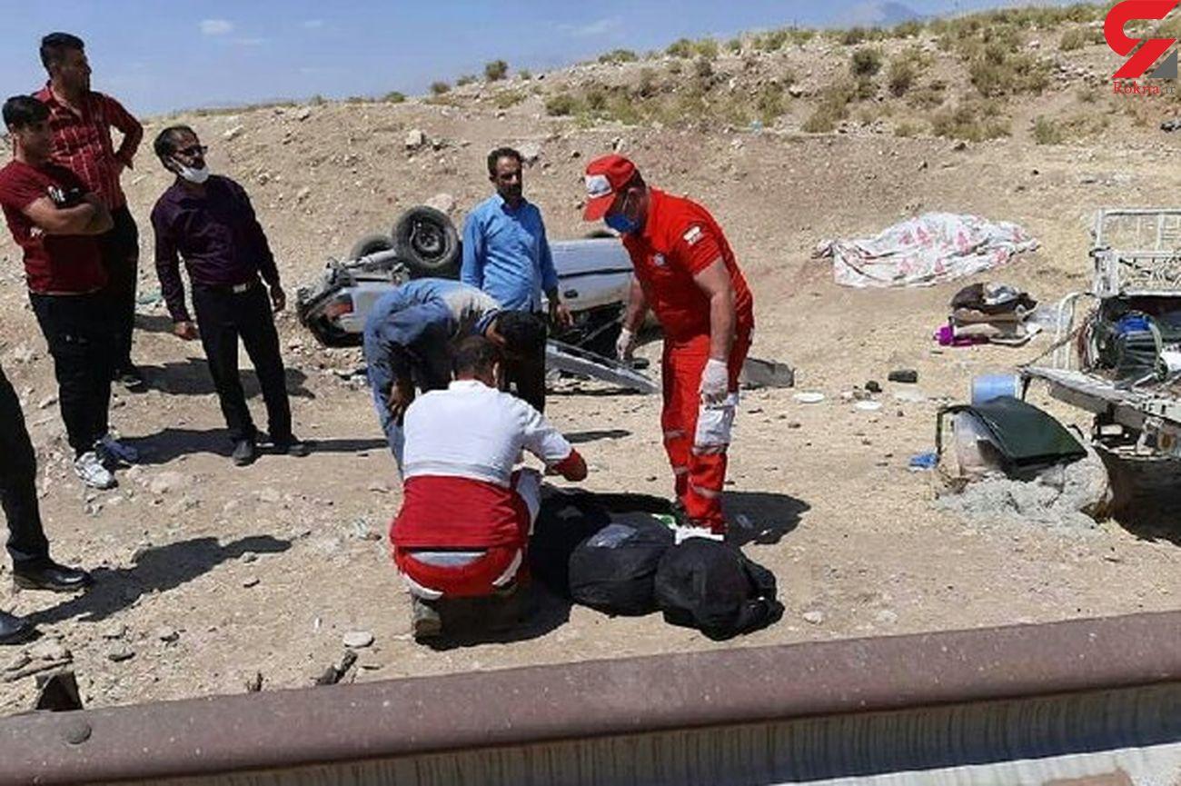 واژگونی خودرو در محور خرمآباد-پلدختر با 3 کشته