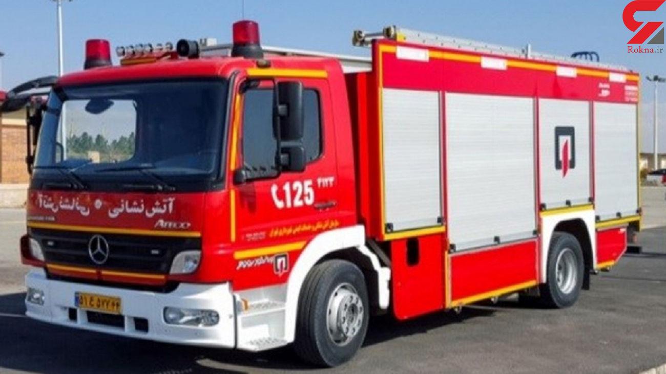 نجات 5 نفر با تلاش آتش نشانان همدانی