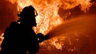 آتش سوزی نمایندگی خودرو در فردیس