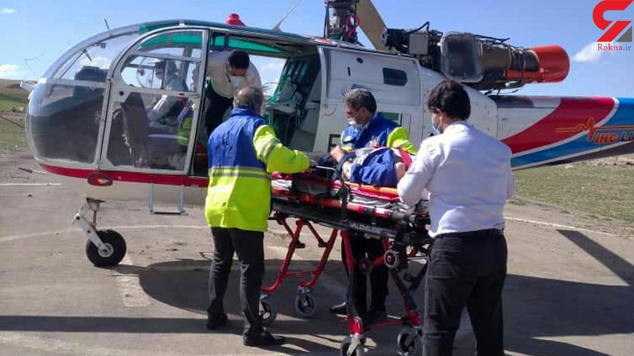 سانحه رانندگی در شهرستان چاروایماق بالگرد اورژانس را به پرواز درآورد