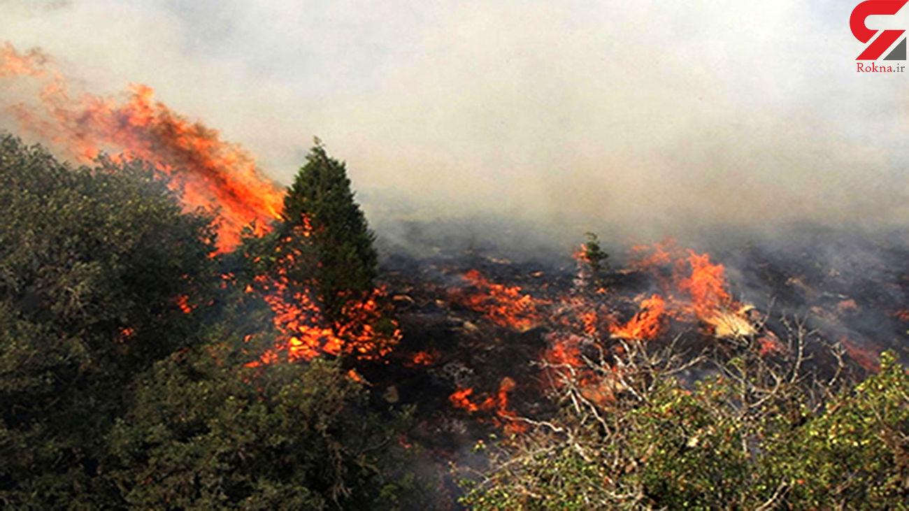 آتش سوزی در کوه سور سیمکان