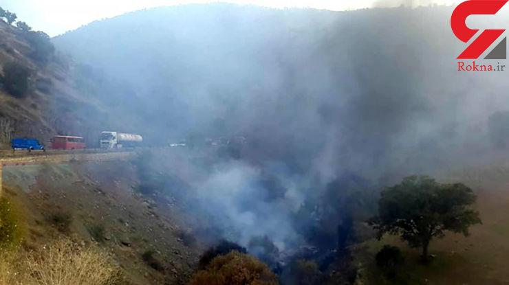 فیلم / راننده تانکر نفت کش زنده زنده در مریوان سوخت / جسد قابل شناسایی نیست