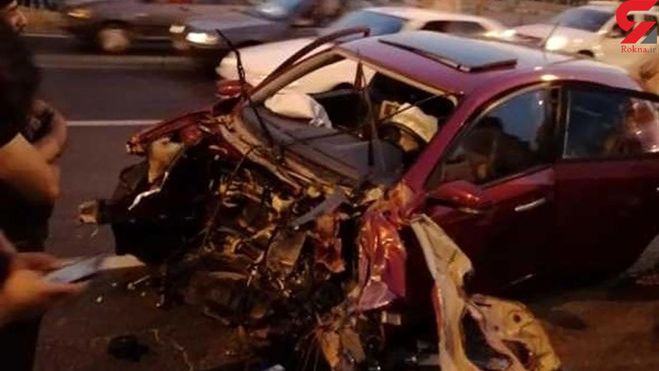 10 عکس از یک تصادف عجیب در تهران + جزییات