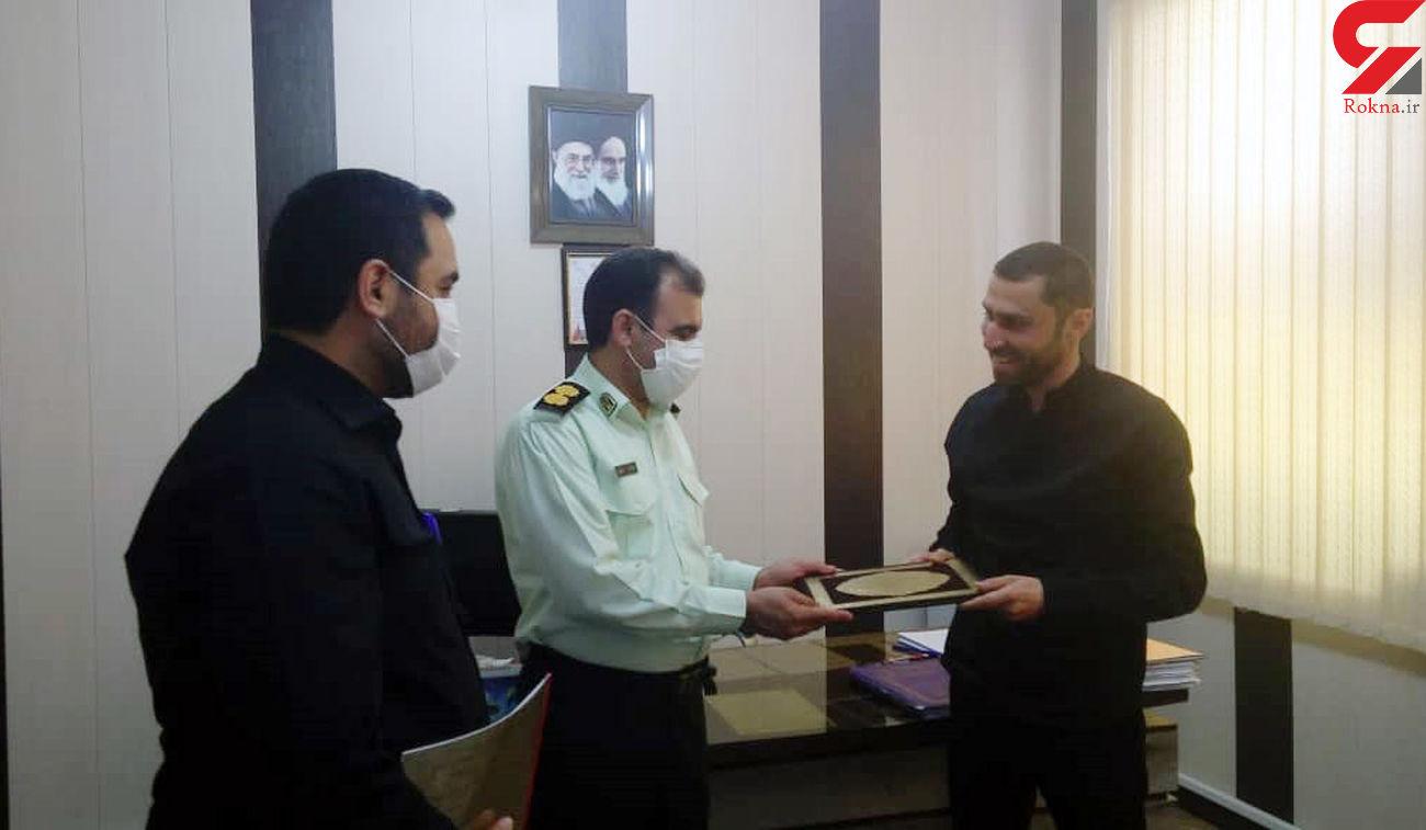 تجلیل فرماندار ویژه آبادان ازنماینده رکنا در خوزستان + عکس