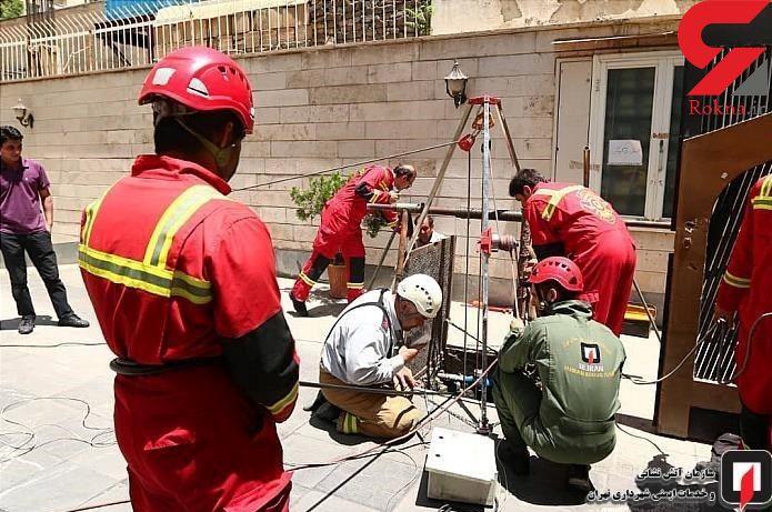 سقوط مرد جوان به چاه 60 متری در سعادت آباد + عکس