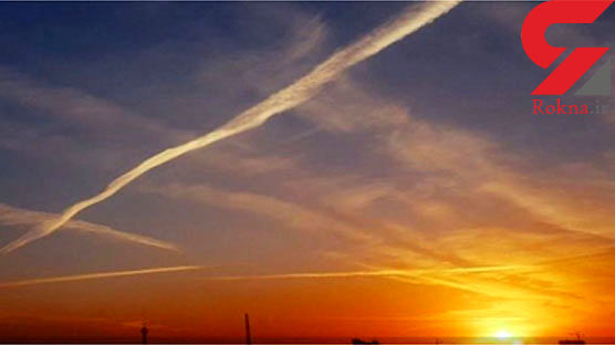 ماجرای خطوط عجیب در آسمان ایران چیست؟ + عکس