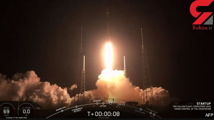 پرتاب موفق ماهوارههای اینترنتی اسپیس ایکس به فضا+عکس