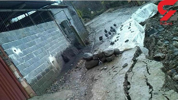 هشدار جدی / رانش خطرناک یک جاده روستایی در بابل+ عکس
