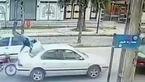 تصادف عجیب موتور سوار با سمند در لاهیجان ! + فیلم