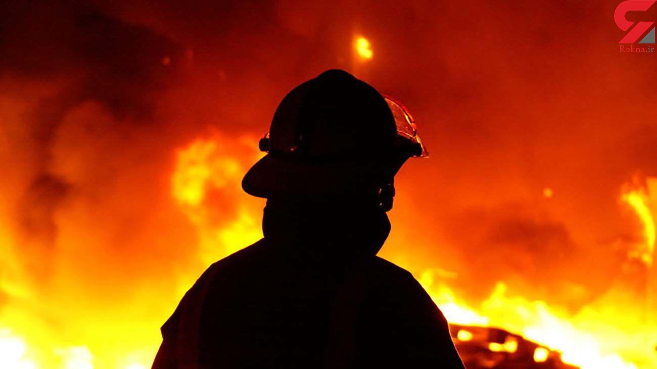 نجات مادر و دو فرزندش در آتشسوزی ساختمان 6 طبقه