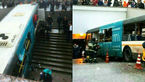 ورود اتوبوس به زیرگذر با 5 کشته+عکس