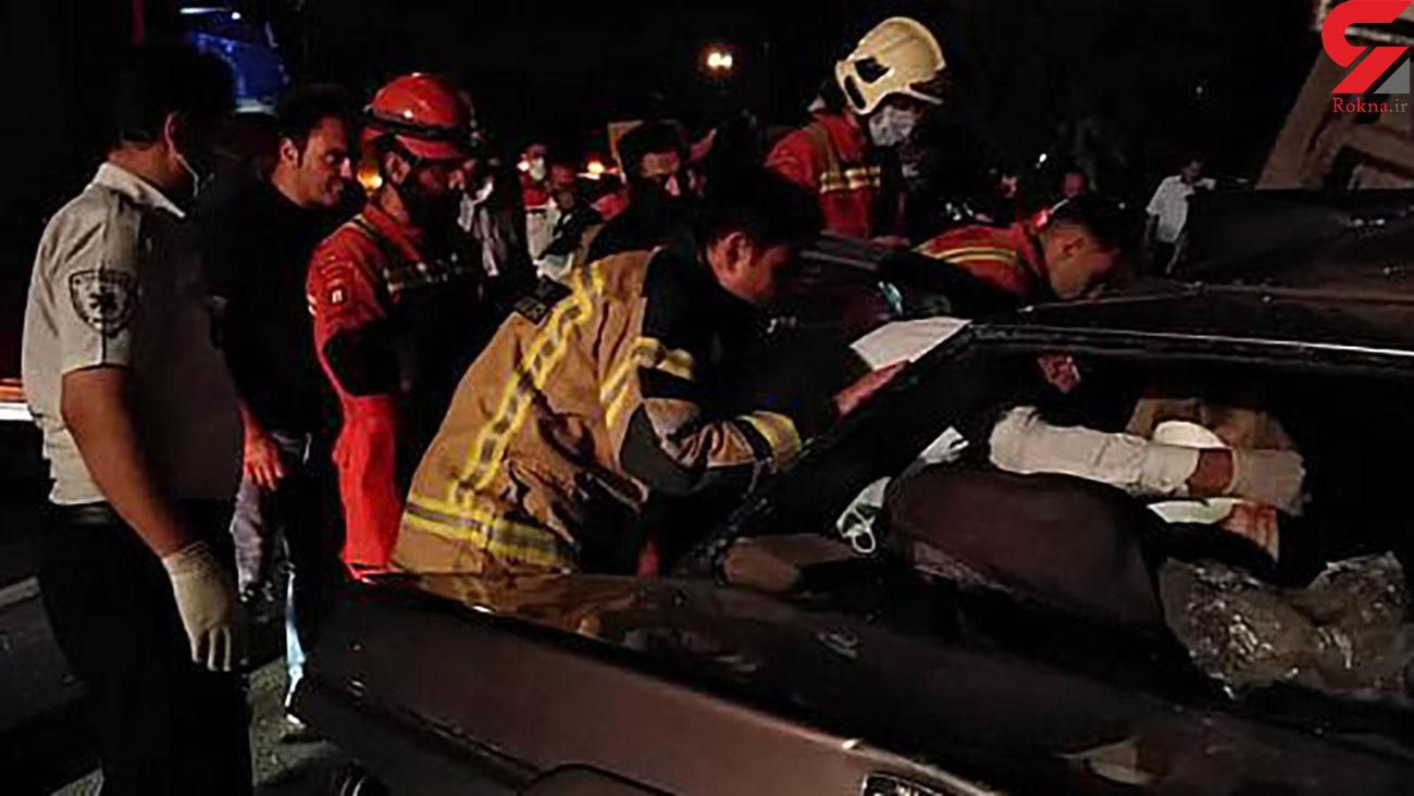 4 عکس از صحنه حادثه برای یک پسر و 2 دختر در سه راه آذری