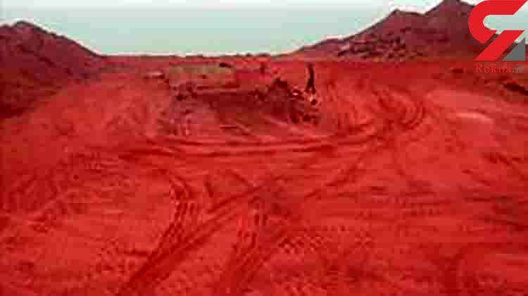 صادرات خام خاک سرخ جزایر هرمز به کشورهای عربی