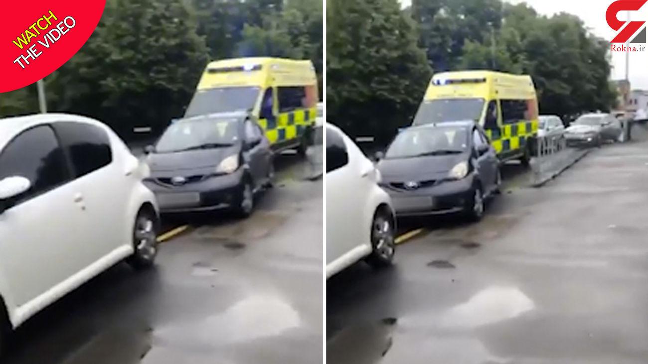 اقدام خودخواهانه راننده ها در مقابله با آمبولانس + فیلم
