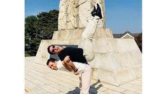 شوخی عجیب و خنده دار علیرضا فغانی در سئول + عکس