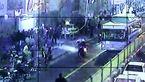 عکس وحشتناک / تصادف مرگبار موتور با اتوبوس در خط ویژه خیابان جمهوری
