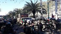 تشییع پیکر 5 شهید کربلای خان طومان سوریه