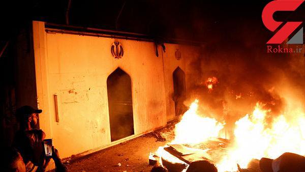 اولین عکس انتشار یافته از  عامل آتش زدن کنسولگری ایران در نجف + عکس
