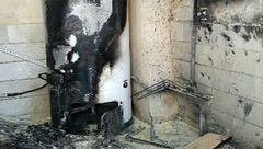 انفجارآبگرمکن در لنجان حادثه آفرید