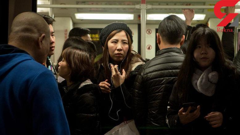 آزار شیطانی زنان در واگنهای مترو +تصاویر