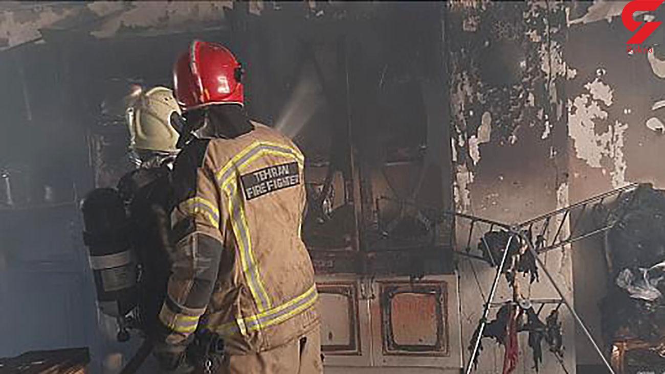 آتش سوزی در محله فلاح تهران + عکس و جزئیات