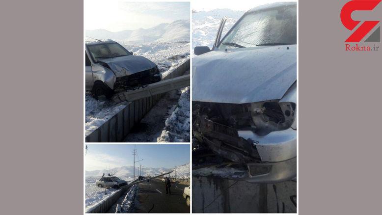 مرگ راننده پراید در برخورد با تیر برق / در مشهد رخ داد