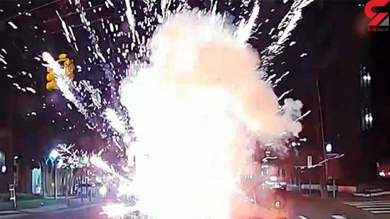 حمله با مواد منفجره به یک راننده + فیلم