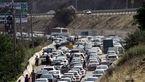 ترافیک پر حجم در جاده مشهد - تهران