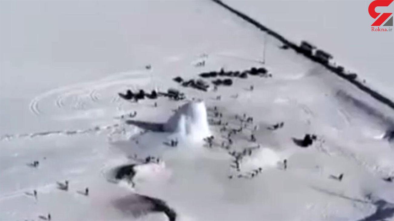 آتشفشان یخی در کشور قزاقستان + فیلم